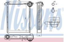 71162 Intercambiador calefacción radiador calefacción Nissens