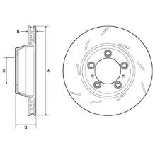 jeu de 2 disques de frein delphi bg9164c. Black Bedroom Furniture Sets. Home Design Ideas