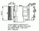 Compresor, aire acondicionado NRF B.V. 32033