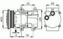 Compresor, aire acondicionado NRF B.V. 32110