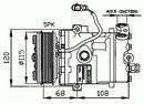 Compresor, aire acondicionado NRF B.V. 32197