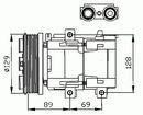 Compresor, aire acondicionado NRF B.V. 32212