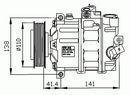 Compresor, aire acondicionado NRF B.V. 32221