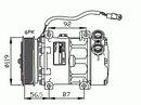 Compresseur, climatisation NRF B.V. 32278