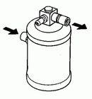 Filtre déshydrateur du circuit de climatisation NRF B.V. 33048