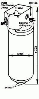 Filtre déshydrateur du circuit de climatisation NRF B.V. 33087