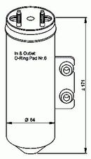Filtre déshydrateur du circuit de climatisation NRF B.V. 33198