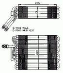 Evaporador, aire acondicionado NRF B.V. 36024