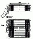 Evaporador, aire acondicionado NRF B.V. 36025