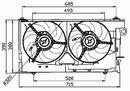 Ventilador, refrigeración del motor NRF B.V. 47030