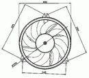 Ventilateur de refroidissement du moteur NRF B.V. 47049