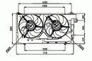 Ventilateur de refroidissement du moteur NRF B.V. 47050