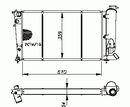 Radiateur moteur NRF B.V. 50413