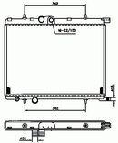 Radiador, refrigeración del motor NRF B.V. 519524