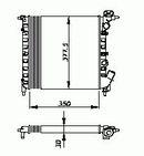Radiateur moteur NRF B.V. 54685
