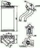 Intercambiador térmico, calefacción habitáculo NRF B.V. 58081