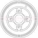Jeu de 2 tambours de frein arrière BENDIX 329114B
