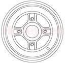 Jeu de 2 tambours de frein arrière BENDIX 329219B