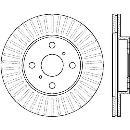 Jeu de 2 disques de frein avant BENDIX 562409B