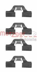 Kit d'accessoires, plaquette de frein à disque METZGER 109-1211