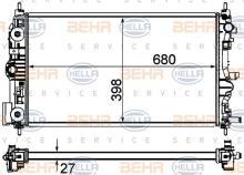 Radiador refrigeraci n del motor hella 8mk 376 759 051 for Radiador dwg