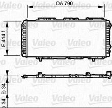 radiateur moteur valeo 731611. Black Bedroom Furniture Sets. Home Design Ideas