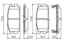 Terracan Plaquettes 4x4 De Jeu 9 Hyundai Frein Crdi Arrière 2 4 eE9WH2IYD