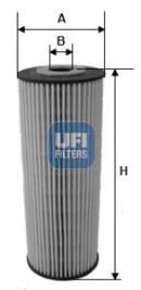 Filtro de aceite UFI FILTERS SPA 25.162.00
