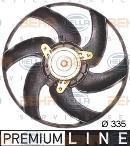 Ventilador, refrigeración del motor HELLA 8EW 351 043-521