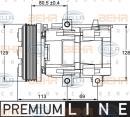 Compresor, aire acondicionado HELLA 8FK 351 113-241