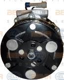 Compresor, aire acondicionado HELLA 8FK 351 134-361
