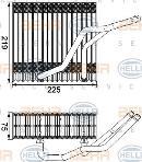 Evaporador, aire acondicionado HELLA 8FV 351 210-541