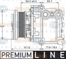 Compresor, aire acondicionado HELLA 8FK 351 334-081