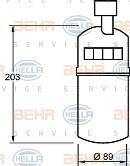 Secador, aire acondicionado HELLA 8FT 351 335-041