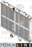 Radiateur moteur HELLA 8MK 376 745-131