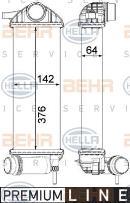 Radiador de aire de admisión HELLA 8ML 376 912-111