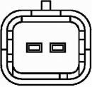 Sensor, temperatura del refrigerante HELLA 6PT 009 309-391