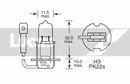 Ampoule, Phares antibrouillard LUCAS  LLX453BL