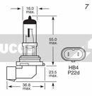 Ampoule, Phares antibrouillard LUCAS  LLX9006BL