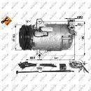 Compresor, aire acondicionado NRF B.V. 32426G