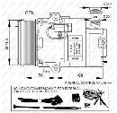 Compresor, aire acondicionado NRF B.V. 32428G