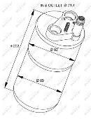 Filtre déshydrateur du circuit de climatisation NRF B.V. 33322