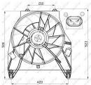 Ventilador, refrigeración del motor NRF B.V. 47456