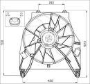 Ventilador, refrigeración del motor NRF B.V. 47457