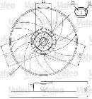 Ventilateur de refroidissement du moteur VALEO 696285