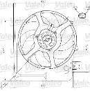 Ventilateur de refroidissement du moteur VALEO 698313