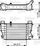 Intercooler, échangeur VALEO 818251