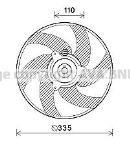 Ventilador, refrigeración del motor AVA Deutschland GmbH PE7551