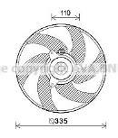 Ventilador, refrigeración del motor AVA Deutschland GmbH PE7552