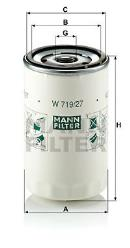 Filtro de aceite MANN-FILTER W 719/27